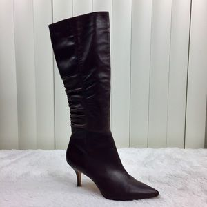 Corso Como Chocolate Brown Leather Heeled Boots